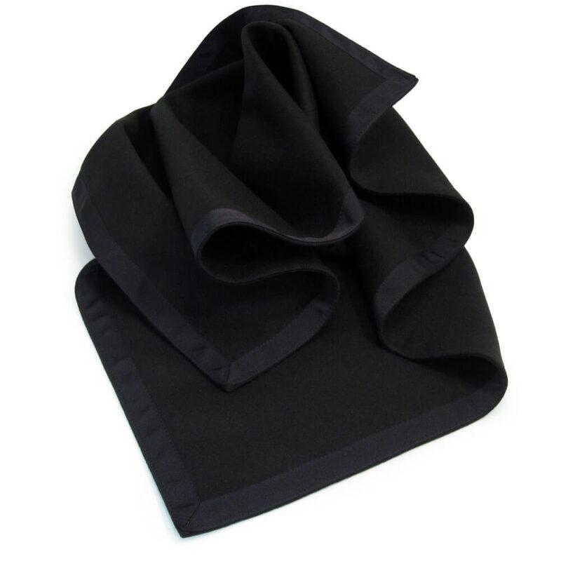 Black Baize Bridge Cloth with Black Petersham Edging