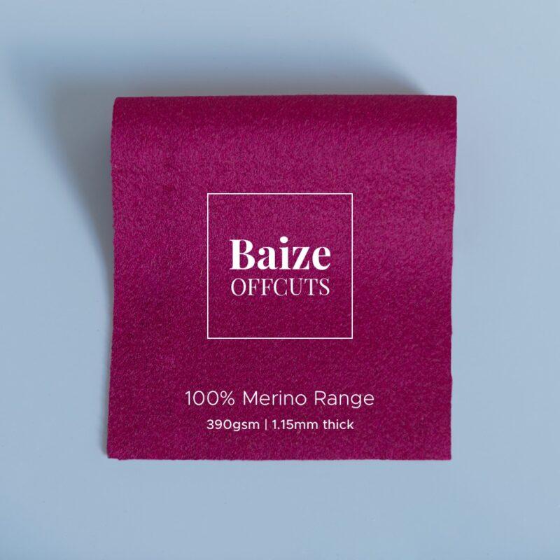 baize offcuts remnants 100 percent merino raspberry