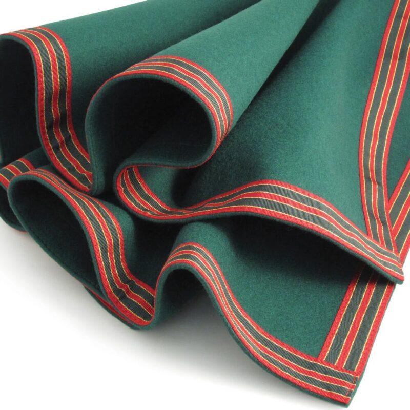 connoisseur green red petersham trim