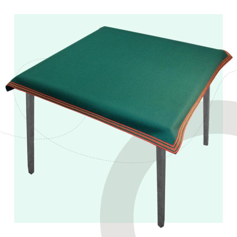 connoisseur handmade card tablecloths red green petersham trim