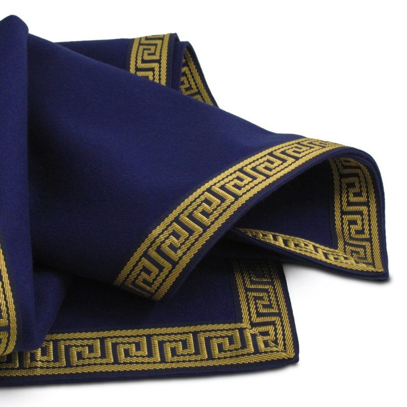 Greek Key Collection Extra large blue playing card tablecloth