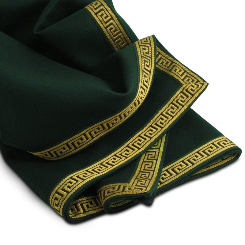 Greek Key Collection Extra large cedar green playing card tablecloth