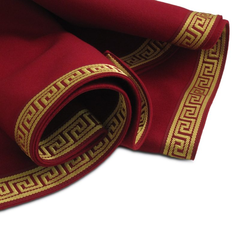 Greek Key Collection Extra large red playing card tablecloth