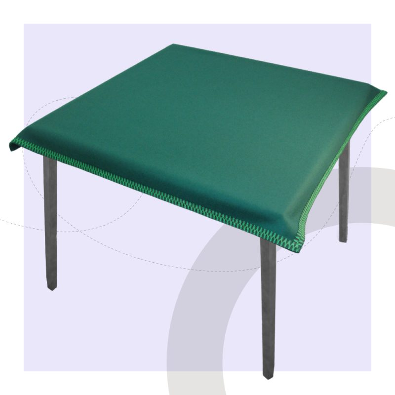 Custom Card Table Cloth black with green modern interiors table cloth