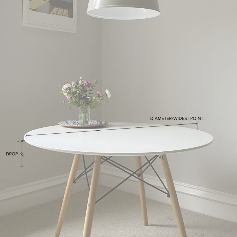 made to measure round tablecloths diagram