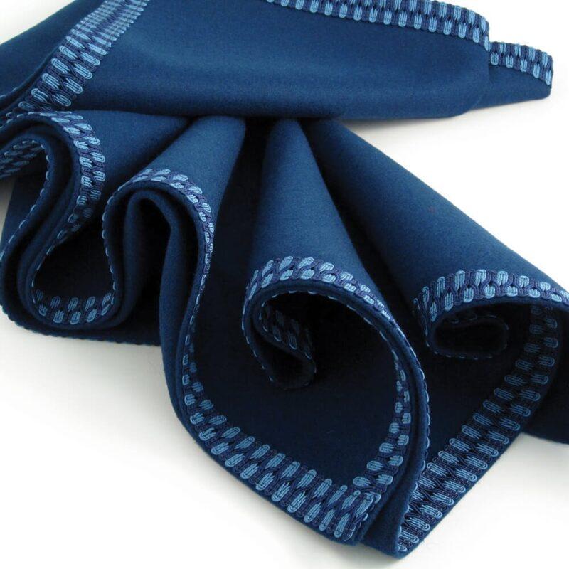 modern interiors luxury circular blue tablecloth