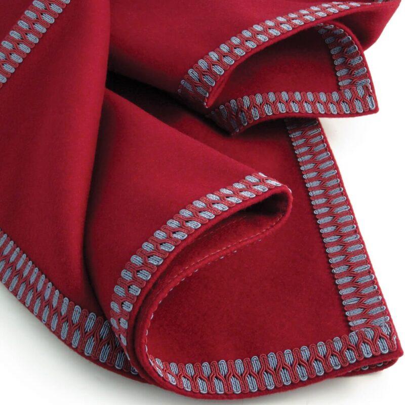 modern interiors luxury circular burgundy red tablecloth