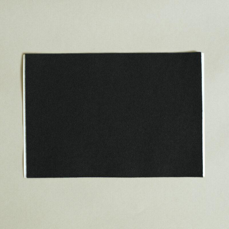 self adhesive black baize A4 sheet