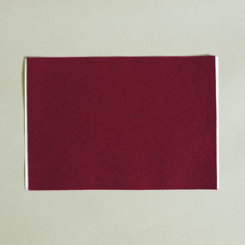 self adhesive burgundy red baize A4 sheet