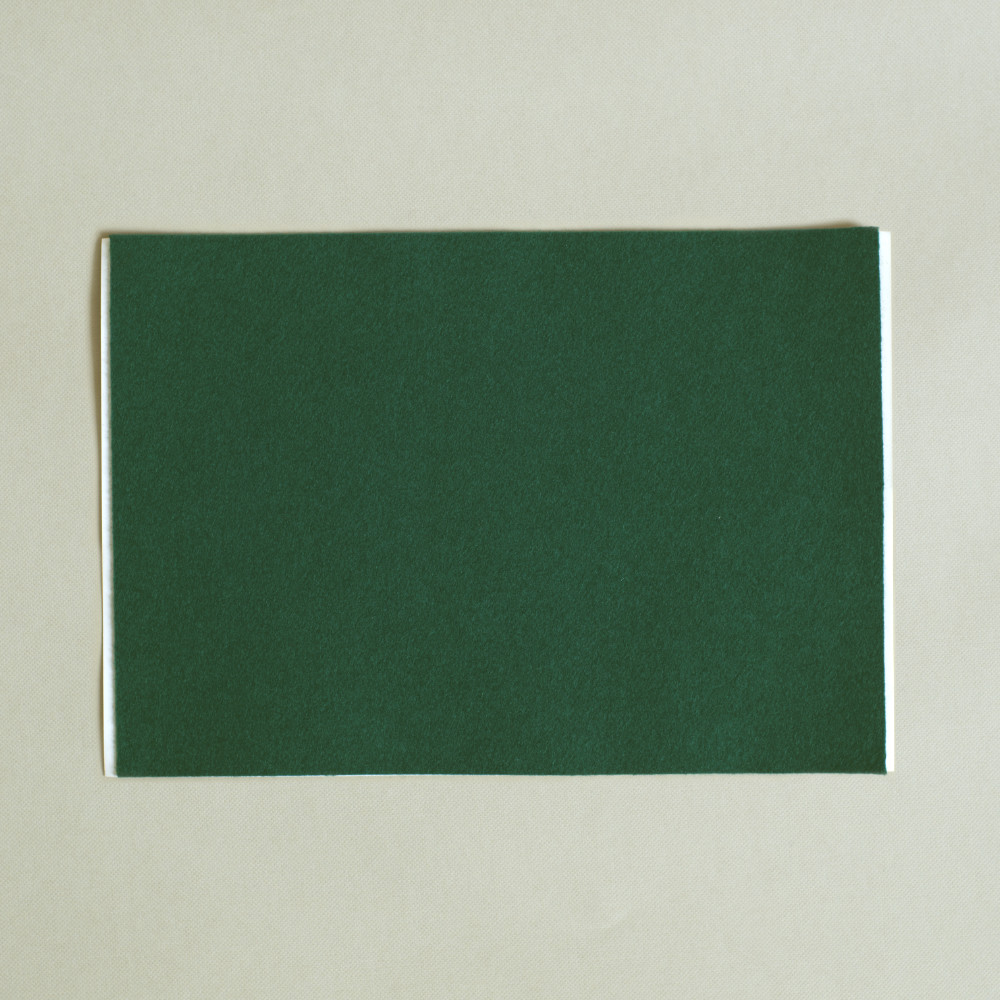 adhesive green baize sheet