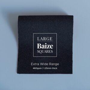 Black Large Precut Baize Squares – Card Table Size