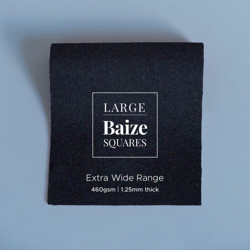 extra wide large precut square black