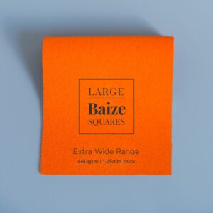 Bright Orange Precut Baize Squares – Card Table Size
