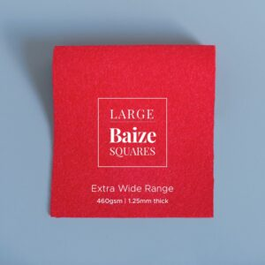 Bright Red Precut Baize Squares – Card Table Size