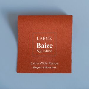 Burnt Orange Precut Baize Squares – Card Table Size