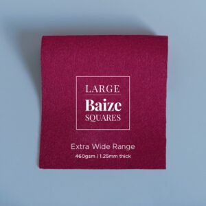 Claret Red Precut Baize Squares – Card Table Size