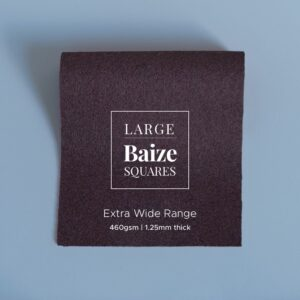 Dark Brown Precut Baize Squares – Card Table Size