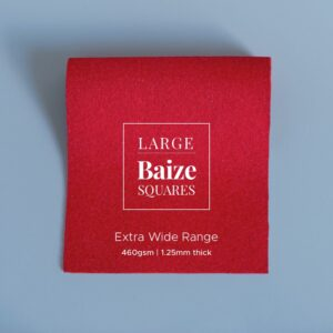 Deep Scarlet Precut Baize Squares – Card Table Size