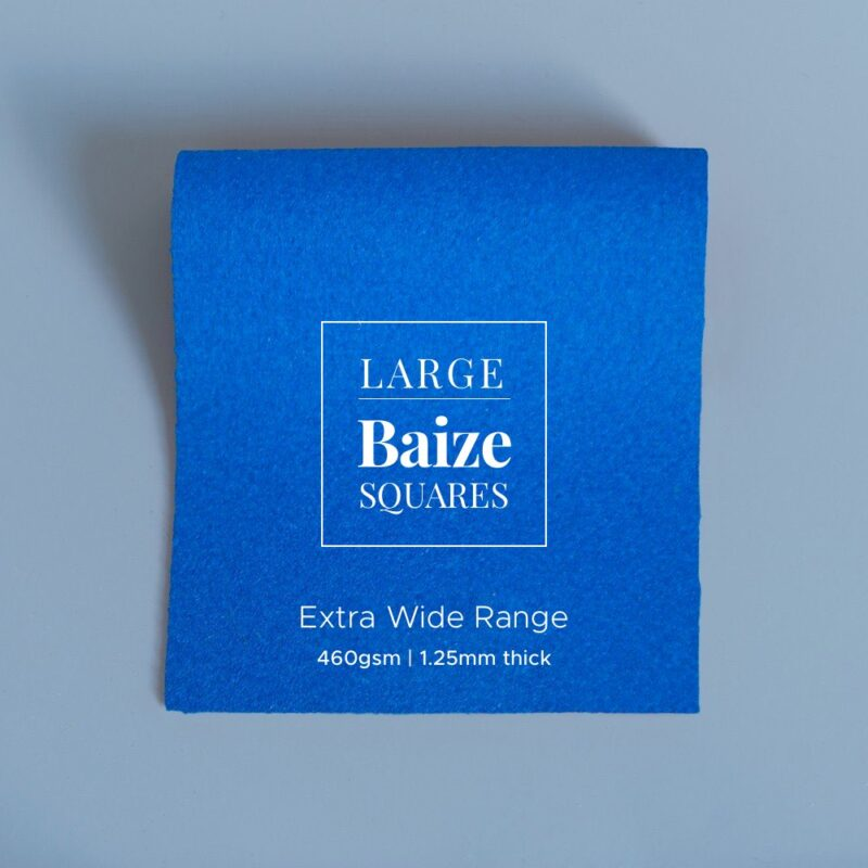 extra wide precut square electric blue