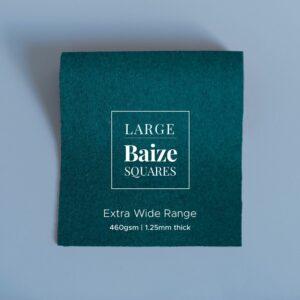 Hunter Green Precut Baize Squares – Card Table Size