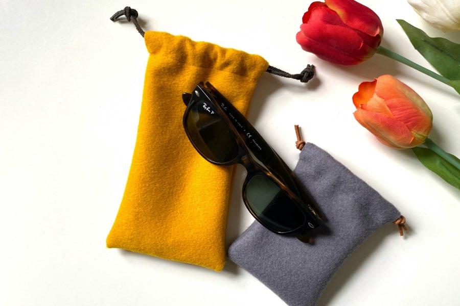 drawstring bag baize or felt