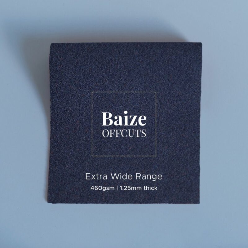 baize offcuts remnants extra wide indigo blue