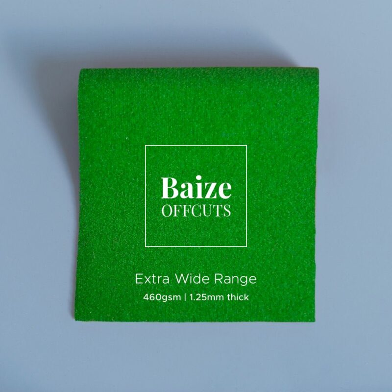 baize offcuts remnants extra wide moss green