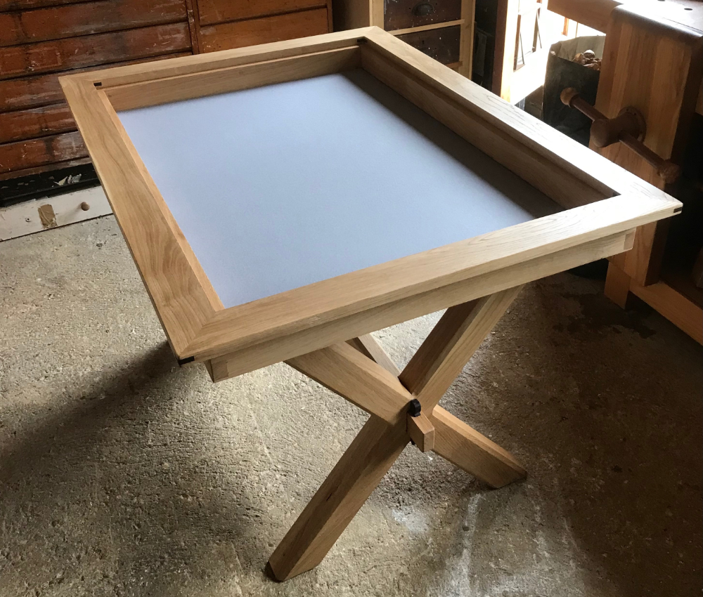 oak dining and gaming table nick clouting